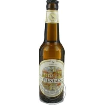 Пиво Вільнюс Алус світле нефільтроване пастеризоване скляна пляшка 5.2%об. 330мл Литва