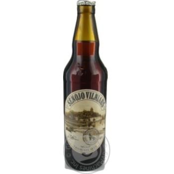 Пиво Вильнюс Алус Сенойо темное пастеризованное стеклянная бутылка 5.6%об. 500мл Литва - купить, цены на Novus - фото 1