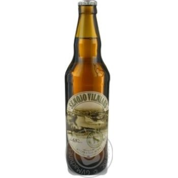 Пиво Вильнюс Алус Сенойо светлое пастеризованное стеклянная бутылка 6.8%об. 500мл Литва