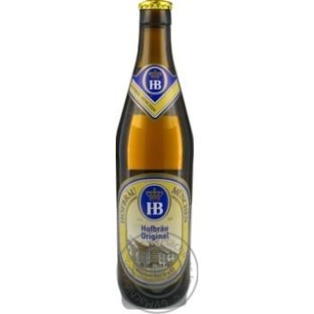 Пиво Хофброй Ориджинал солодовое светлое пастеризованное стеклянная бутылка 5.1%об. 500мл Германия