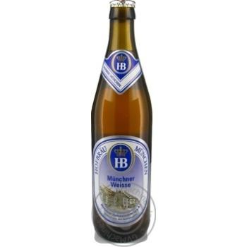 Пиво Хофброй Мунхен Вайс солодовое светлое 5.1%об. 500мл