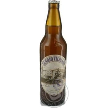Пиво Вильнюс Алус Сенойо светлое пшеничное пастеризованное стеклянная бутылка 5%об. 500мл Литва