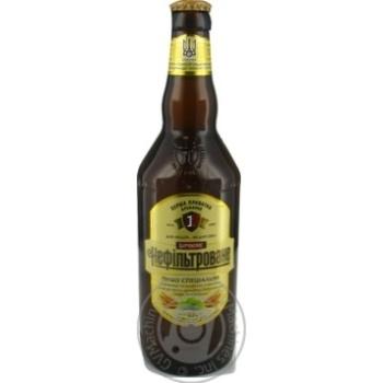 Пиво Перша приватна броварня Бочковое нефильтрованное светлое 4,6% 0,5л