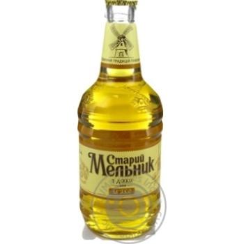 Пиво Старый Мельник из бочонка Мягкое светлое фильтрованное пастеризованное 4,2% 0,45л