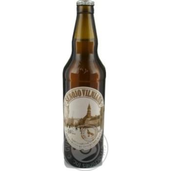 Пиво Вільнюс Алус Сенойо світле нефільтроване пастеризоване скляна пляшка 5%об. 500мл Литва