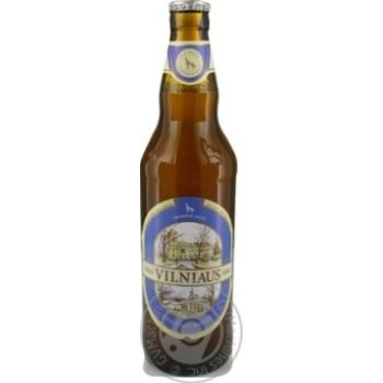 Пиво Вільнюс Алус пшеничне світле нефільтроване пастеризоване скляна пляшка 5%об. 500мл Литва