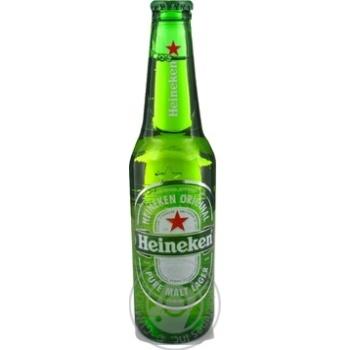 Пиво Heineken светлое фильтрованное пастеризованное 5% 0,33л