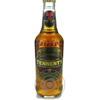 Пиво світле Tennent's Aged with Whisky Oak 6% 0,33 скл/пл