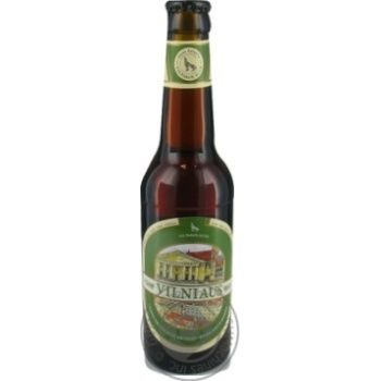 Пиво Вильнюс Алус Сенойо темное пастеризованное с травами стеклянная бутылка 5.6%об. 330мл Литва