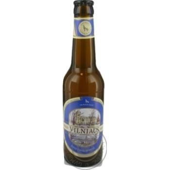 Пиво Вильнюс Алус светлое пшеничное нефильтрованное пастеризованное стеклянная бутылка 5%об. 330мл Литва
