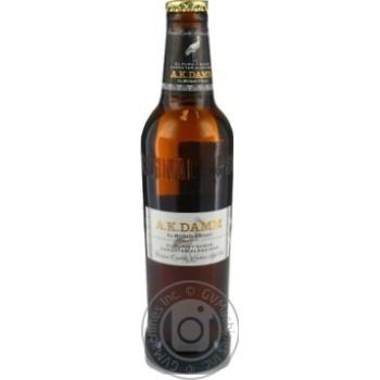 Пиво світле AK DAMM 4,8% 0,33л с/пл