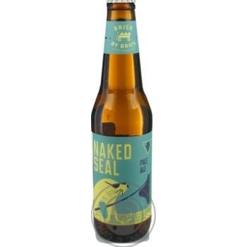 Пиво світле Brick By Brick Naked Seal Raudonu plytu cкл/пл 5,8 % 0,33л