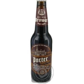 Скидка на Пиво Волынский Бровар Porter темное 5,8 % 0,35л