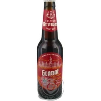 Скидка на Пиво Волынский бровар Granat Rad Lager полутемное 5,4% 0,35л