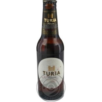 Beer Turia semi-dark 5.4% 250ml glass bottle Spain