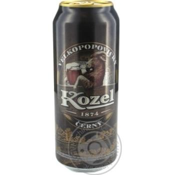 Пиво Vlekopopovicky Kozel темное ж/б ,7% 0,5л