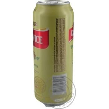 Пиво Krusovice Svetle светлое ж/б 4,2% 0,5л - купить, цены на Novus - фото 4