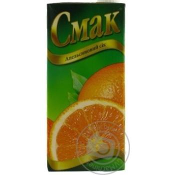 Сок Смак апельсиновый восстановленный тетрапакет 1000мл Украина