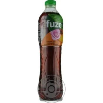 Напиток Fuzetea Черный чай со вкусом персика и розы негазированный 1,5л
