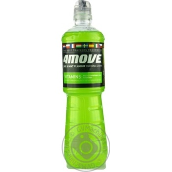Напиток безалкогольный 4Move Mint&Lime изотонический негазированный спортивный 0,75l - купить, цены на Novus - фото 1
