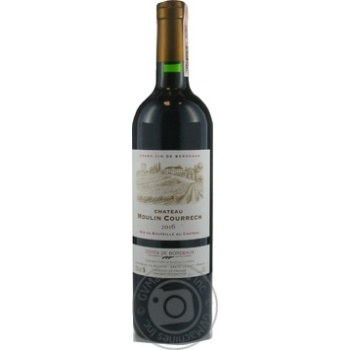 Вино Chateau Moulin Courrech Cotes de Bordeaux красное сухое 13,5% 0,75л