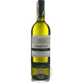 Вино Inkerman белое полусухое 12% 0,75л - купить, цены на Novus - фото 1