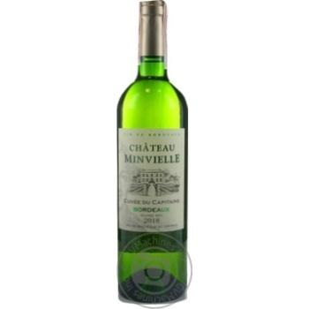 Chateau Minvielle Cuvee du Capitaine Bordeaux white dry wine 12,5% 0,75l