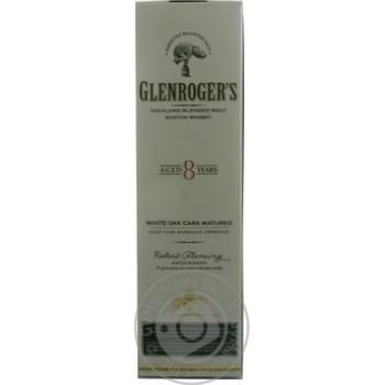 Віскі Glenroger's 8 років 40% 0,7л - купити, ціни на Novus - фото 1