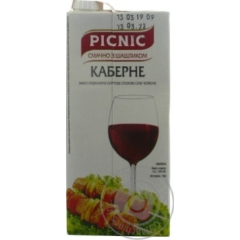 Picnic Cabernet Dry Red Wine
