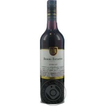 Вино Berri Estates Shiraz красное полусухое 13% 0.75л