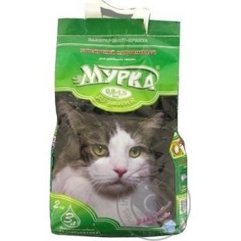 Наполнитель Мурка для кошек мелкий с ароматом лаванды 2кг