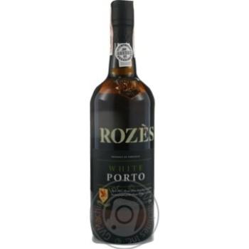 Портвейн Rozes White Porto белый крепкий 20% 0,75л - купить, цены на Novus - фото 1