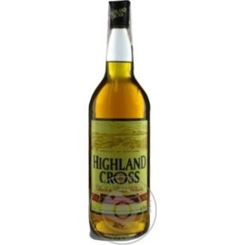 Виски Highland Cross 40% 1л