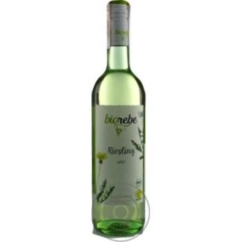 Вино BioRebe Riesling белое полусухое 11,5% 0,75л