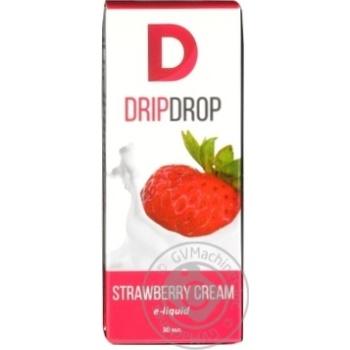 Рідина Drip Drop д/ел.випаровувачів Strawberry 0mg 30мл - купити, ціни на МегаМаркет - фото 1