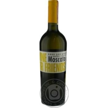 Вино Wine For Friends Moscato белое полусладкое 9-13% 0,75л