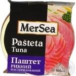 Паштет MerSea рибний з тунця пастеризований 160г