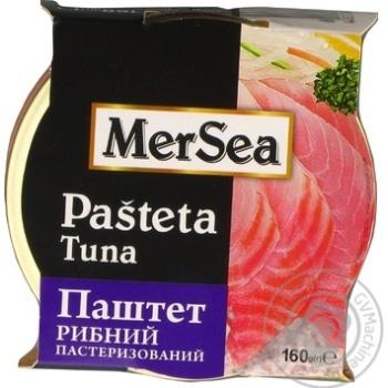 Паштет MerSea рыбный из тунца пастеризованный 160г