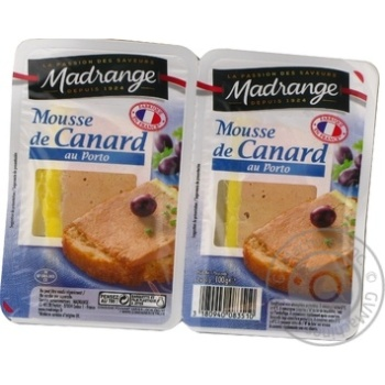 Madrange with port duck mousse 100g - buy, prices for Novus - image 1