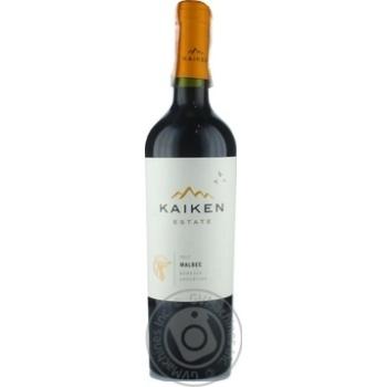 Вино Kaiken Malbec червоне сухе 13.5% 0.75л - купити, ціни на CітіМаркет - фото 1