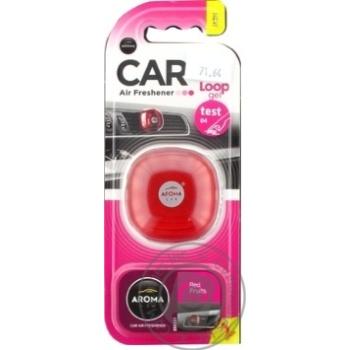 Aroma Car Loop gel Car air freshener Frut - buy, prices for MegaMarket - image 2