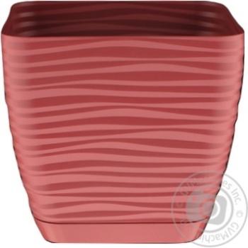 Form-Plastic Sahara Mini Marsala Square Flowerpot 15cm 2l - buy, prices for UltraMarket - photo 1