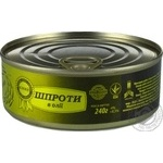 Sprats №3 in oil 240g can