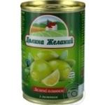 Оливки Долина Желаний з лимоном ж/б 260г х12