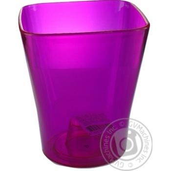 Кашпо пластикове рожеве