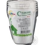 Склянка одноразова ТСМ Natural паперова 260мл 5шт