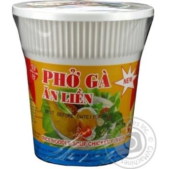 Макароны лапша Бич чи рисовая со вкусом курицы быстрого приготовления 50г пластиковый стакан