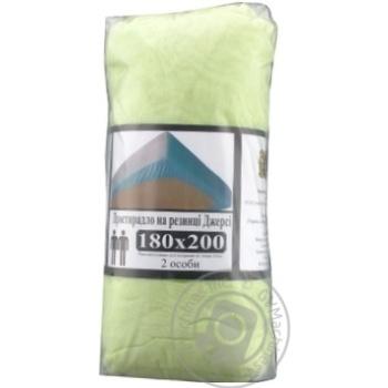 Простирадло на резинці Джерсі 180*200+20см зелений