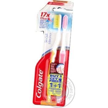 Зубна щітка Colgate шовкові нитки з деревним вугіллям м'яка 1+1 - купити, ціни на Восторг - фото 8