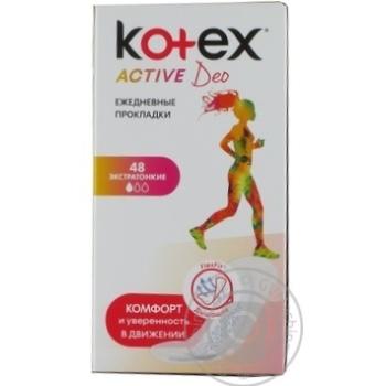 Прокладки ежедневные Kotex Deo Active ароматизированные 48шт - купить, цены на Novus - фото 3